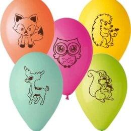 12″ Μπαλόνι Ζωάκια του δάσους