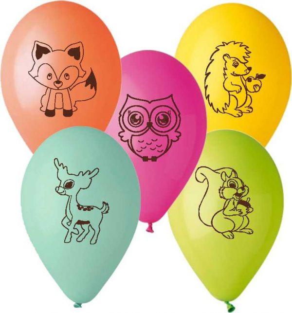 """12"""" Μπαλόνι Ζωάκια του δάσους"""