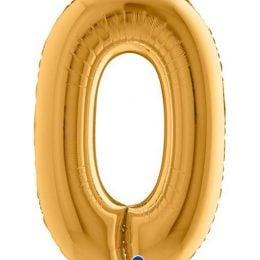 Τεράστιο Μπαλόνι Χρυσό Αριθμός 0 102 εκ