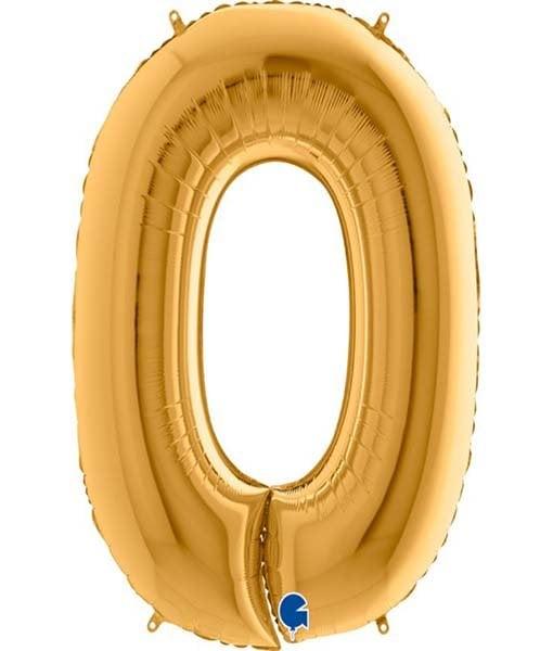 Τεράστιο Μπαλόνι 100 εκ Χρυσό Αριθμός 0