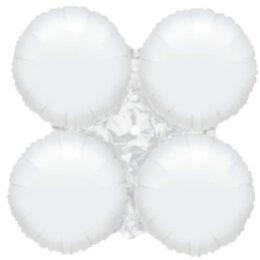 Μπαλόνι Λευκό 4πλο για γιρλάντα 40 εκ
