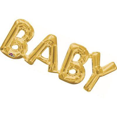 Μπαλόνι φράση χρυσή Baby 66 εκ