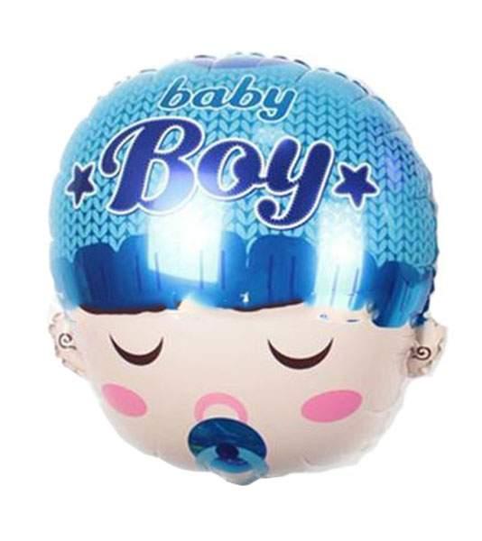 Μπαλόνι γέννησης φάτσα μωρού γαλάζια πιπίλα 50 εκ