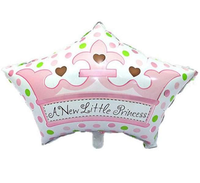 Μπαλόνι γέννησης Στέμα 'New little Princess' 68 εκ