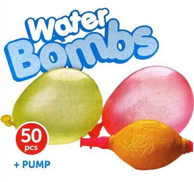 Μπαλονάκια νερόμπομπες για μπουγέλωμα (50 τεμ)