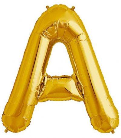 Τεράστιο Μπαλόνι 100 εκ Χρυσό Γράμμα A