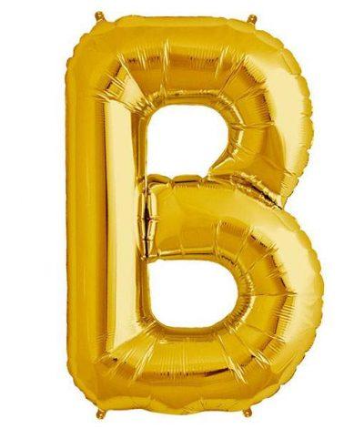 Τεράστιο Μπαλόνι 100 εκ Χρυσό Γράμμα B
