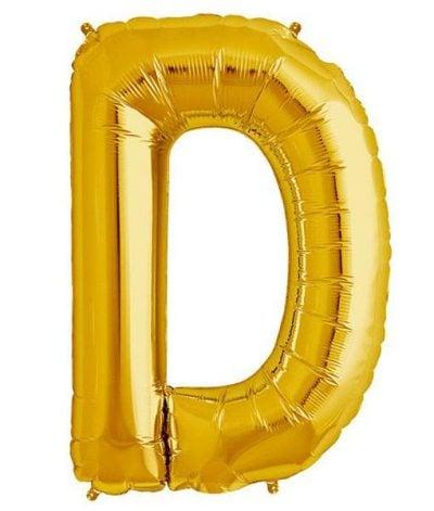 Τεράστιο Μπαλόνι 100 εκ Χρυσό Γράμμα D