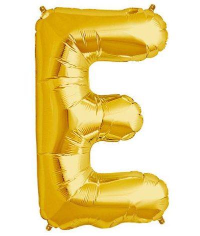 Τεράστιο Μπαλόνι 100 εκ Χρυσό Γράμμα E