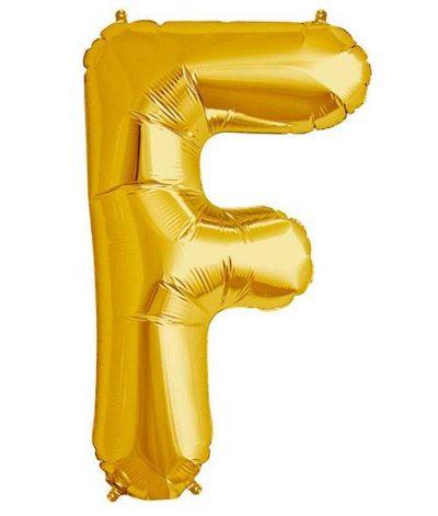 Τεράστιο Μπαλόνι 100 εκ Χρυσό Γράμμα F