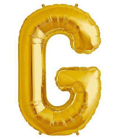 Τεράστιο Μπαλόνι 100 εκ Χρυσό Γράμμα G