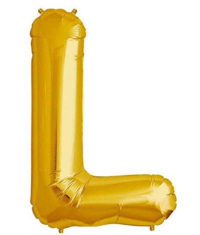 Τεράστιο Μπαλόνι 100 εκ Χρυσό Γράμμα L
