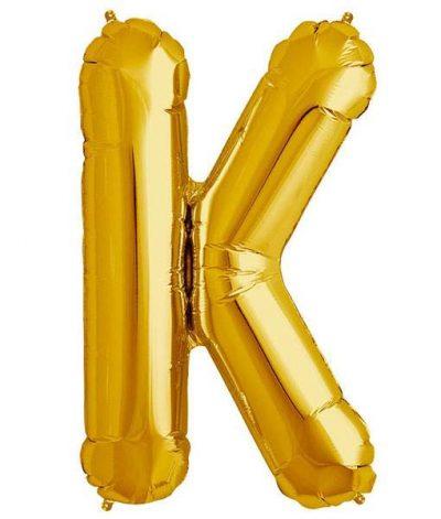Τεράστιο Μπαλόνι 100 εκ Χρυσό Γράμμα K