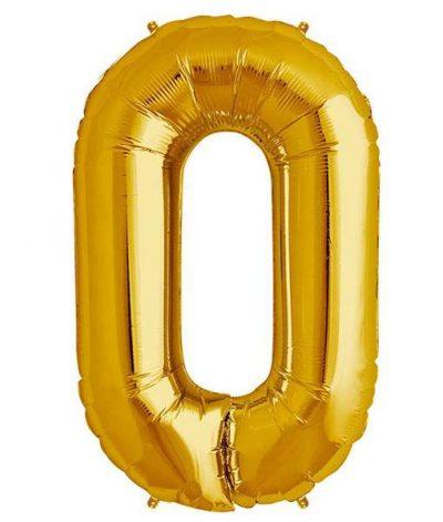 Τεράστιο Μπαλόνι 100 εκ Χρυσό Γράμμα O