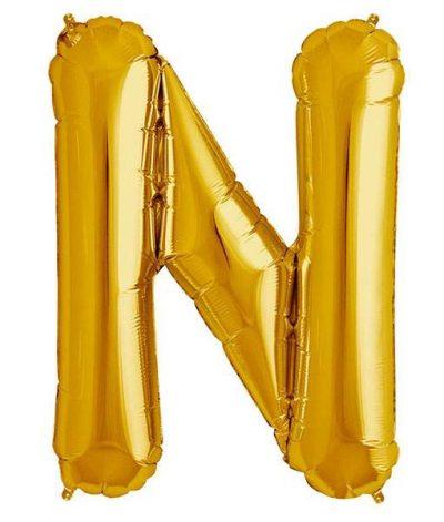 Τεράστιο Μπαλόνι 100 εκ Χρυσό Γράμμα N