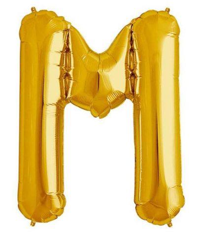 Τεράστιο Μπαλόνι 100 εκ Χρυσό Γράμμα M