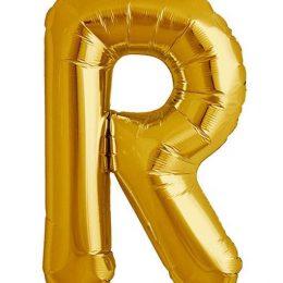 Τεράστιο Μπαλόνι 100 εκ Χρυσό Γράμμα R