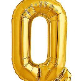 Τεράστιο Μπαλόνι 100 εκ Χρυσό Γράμμα Q