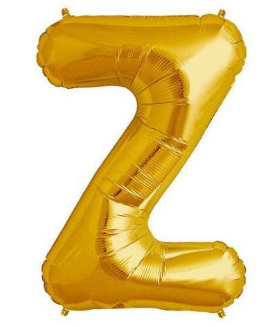 Τεράστιο Μπαλόνι 100 εκ Χρυσό Γράμμα Z