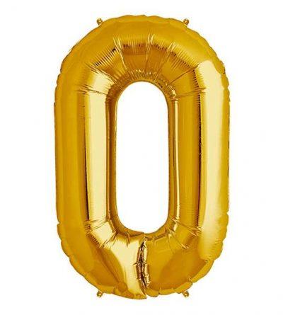 Μπαλόνι 40 εκ Χρυσό Αριθμός 0