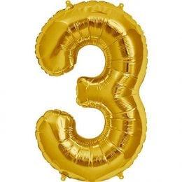 Μπαλόνι 40 εκ Χρυσό Αριθμός 3