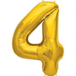 Μπαλόνι 40 εκ Χρυσό Αριθμός 4