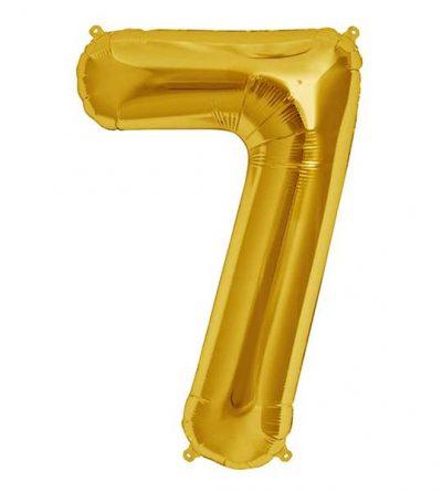 Μπαλόνι 40 εκ Χρυσό Αριθμός 7