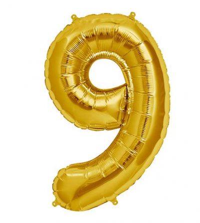 Μπαλόνι 40 εκ Χρυσό Αριθμός 9