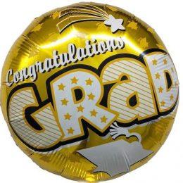 Μπαλόνι αποφοίτησης Congrats GRAD χρυσό 45 εκ