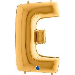 Μπαλόνι 100 εκ Χρυσό Γράμμα E