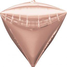 """Μπαλόνι ροζ χρυσό διαμάντι 18"""""""