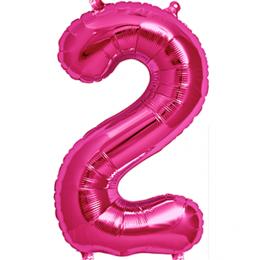 Μπαλόνι 40 εκ Φούξια Αριθμός 2