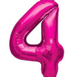 Μπαλόνι 40 εκ Φούξια Αριθμός 4