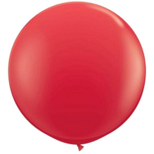 90cm - 36'' Κόκκινο μεγάλο μπαλόνι