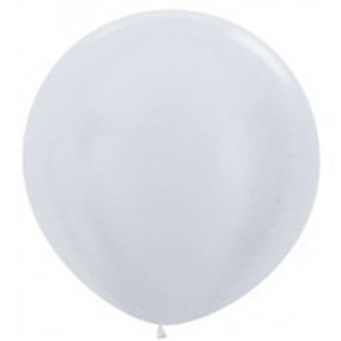 90cm - 36'' Ασημί μεγάλο μπαλόνι