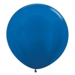 "90cm – 36"" Μπλε περλέ μεγάλο μπαλόνι"