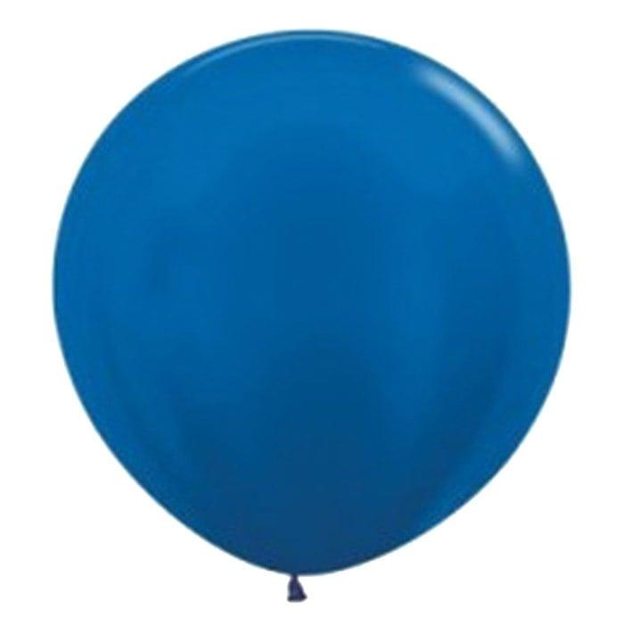 90cm - 36'' Μπλε περλέ μεγάλο μπαλόνι