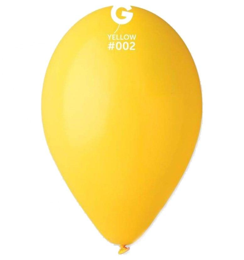 12″ κίτρινο λάτεξ μπαλόνι
