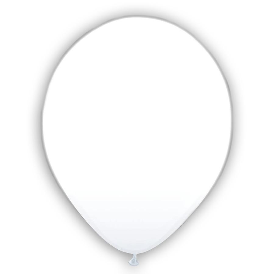 """12"""" Λευκό Μπαλόνι με φωτάκι LED"""