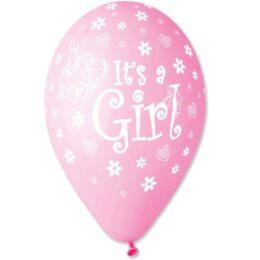"""12"""" Μπαλόνι Its a girl κουνελάκι"""