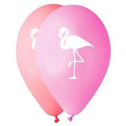 """12"""" Μπαλόνι τυπωμένο Φλαμίνγκο"""