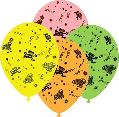"""12"""" Μπαλόνι τυπωμένο Μαϊμουδάκια"""