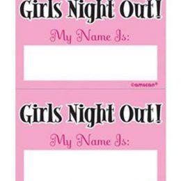 """Αυτοκόλλητα Girls Night out """"My name is"""" (16 τεμ)"""