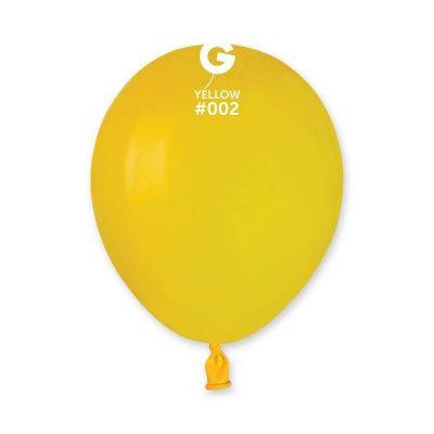 """5"""" Κίτρινο λάτεξ μπαλόνι"""