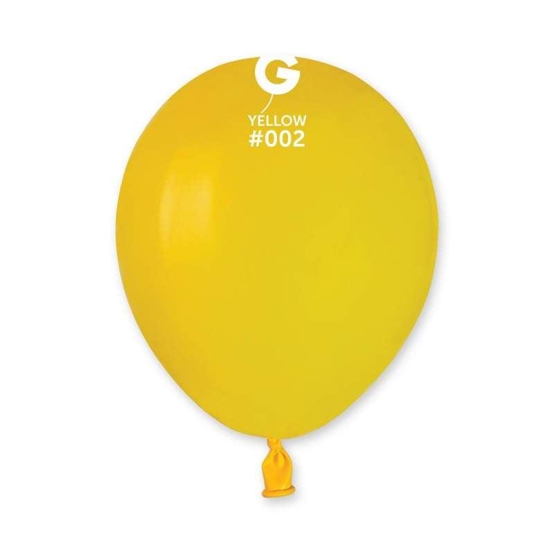 5″ Κίτρινο λάτεξ μπαλόνι