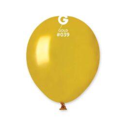 """5"""" Χρυσό Μεταλλικό λάτεξ μπαλόνι"""