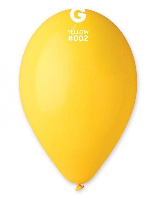 """12"""" Κίτρινο λάτεξ μπαλόνι"""