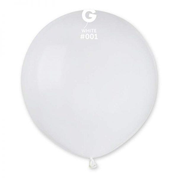 48cm - 19'' Άσπρο μεγάλο μπαλόνι