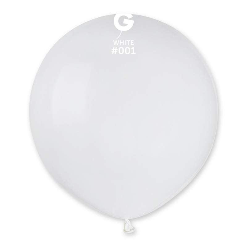 "48cm – 19"" Άσπρο μεγάλο μπαλόνι"