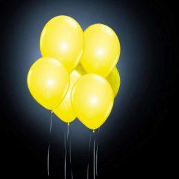12″ Κίτρινο Μπαλόνι με φωτάκι LED (4 τεμ)
